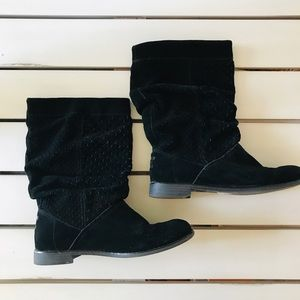 Toms Serra Slouchy Suede Black Boot Sz 8.5